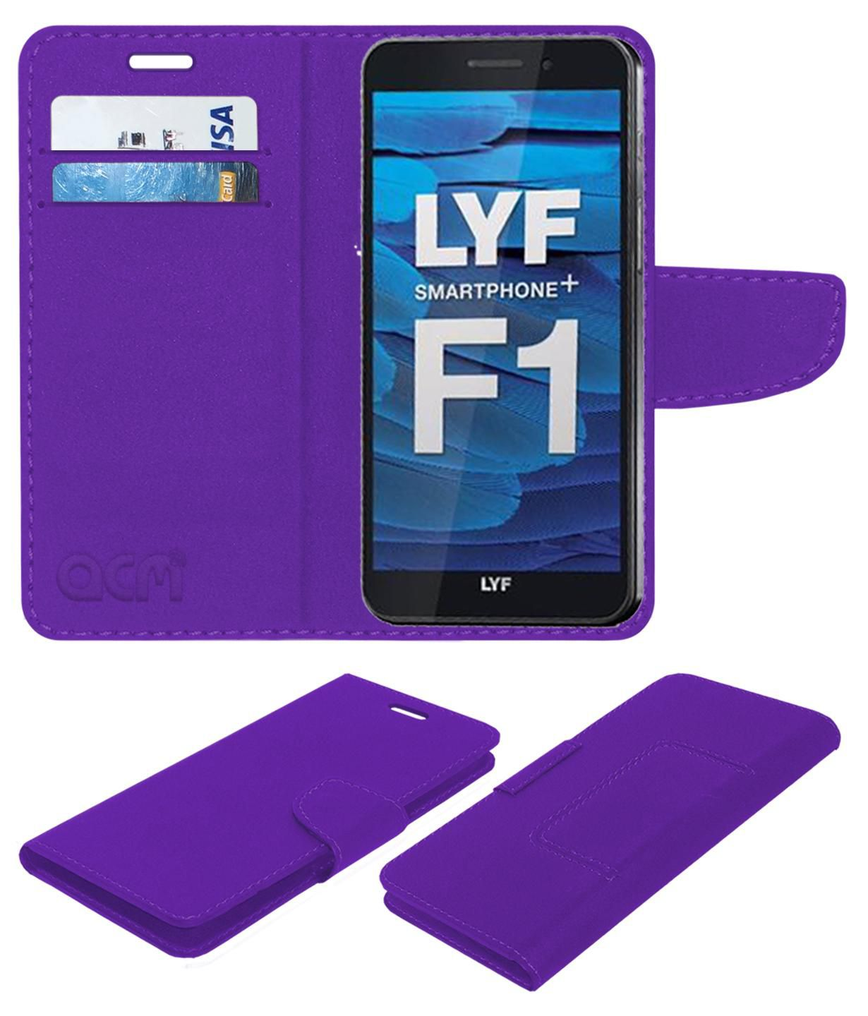 LYF Smartphone+ F1 Flip Cover by ACM - Purple