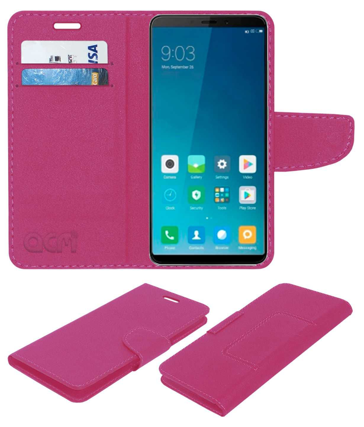 huge selection of a960f 926fe Xiaomi Redmi Note 5 Flip Cover by ACM - Pink