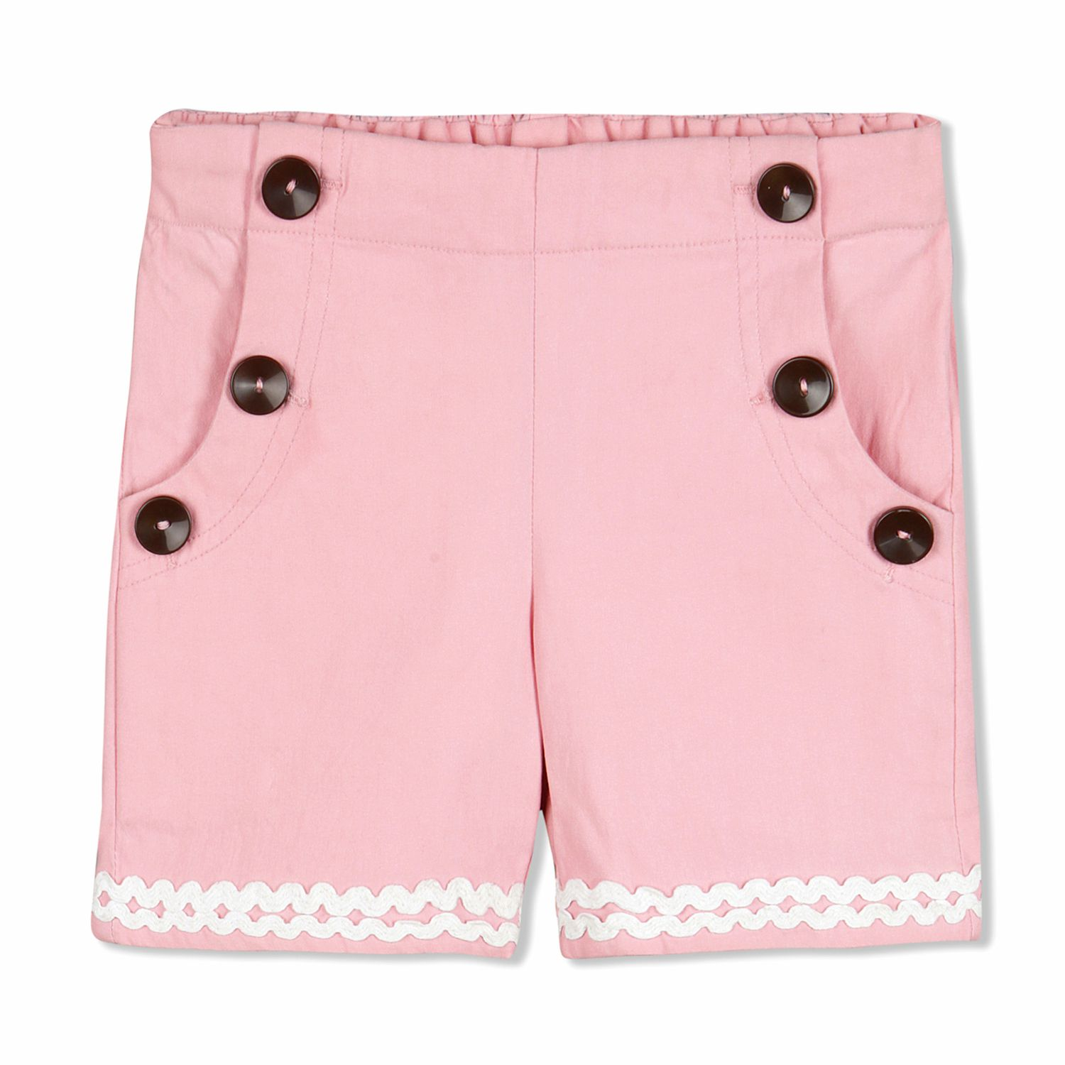 Cherry Crumble Lace Trim Shorts