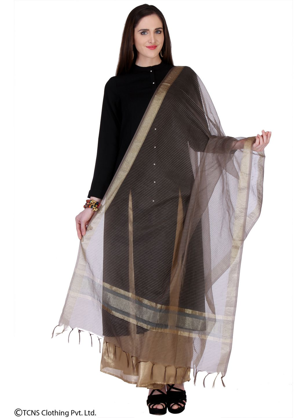 8c228eecf0d W Black Cotton Dupatta Price in India - Buy W Black Cotton Dupatta Online  at Snapdeal