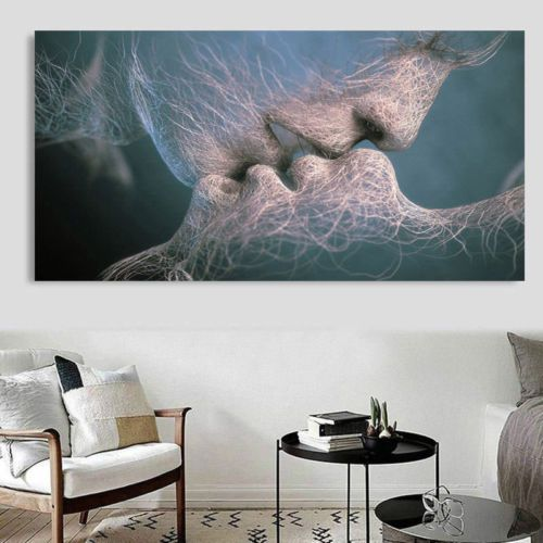 AH Decals Abstract Living Room Canvas Painting Without Frame