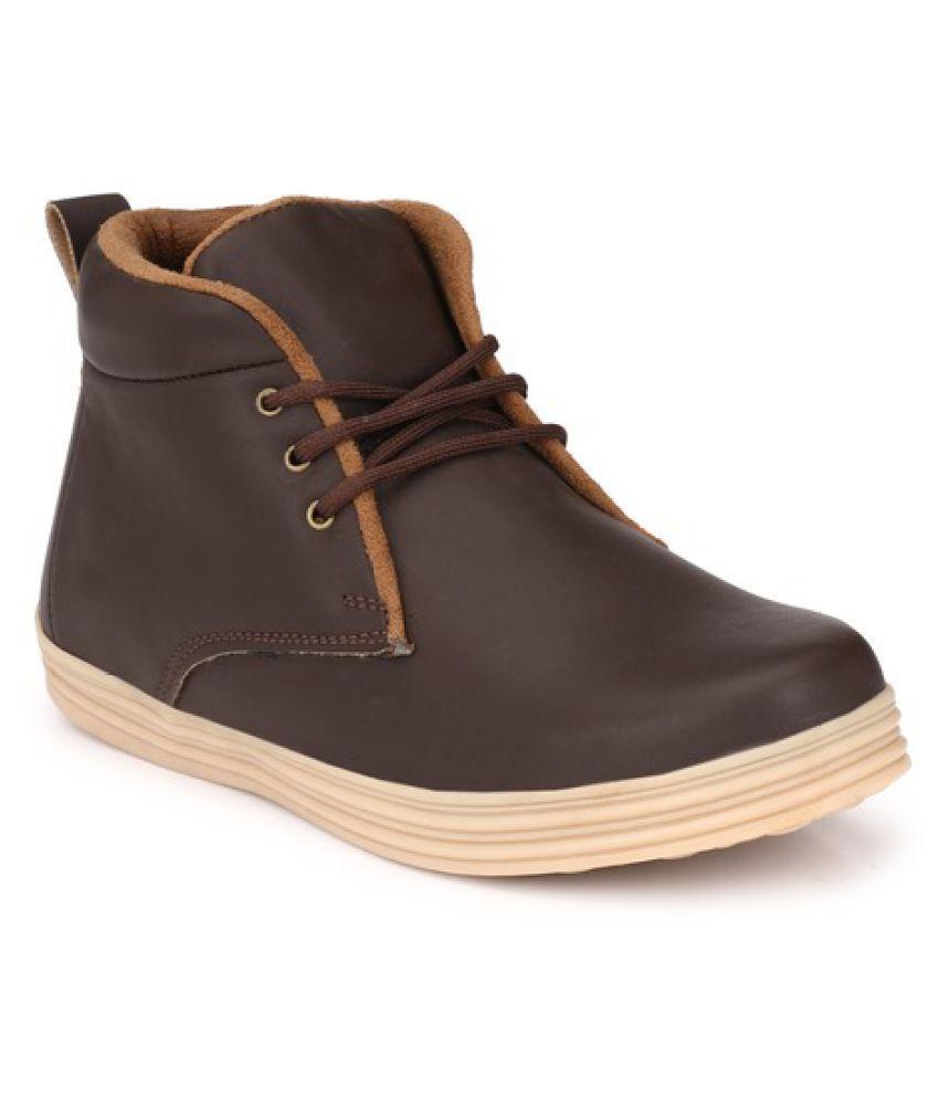 ZebX Brown Chukka boot