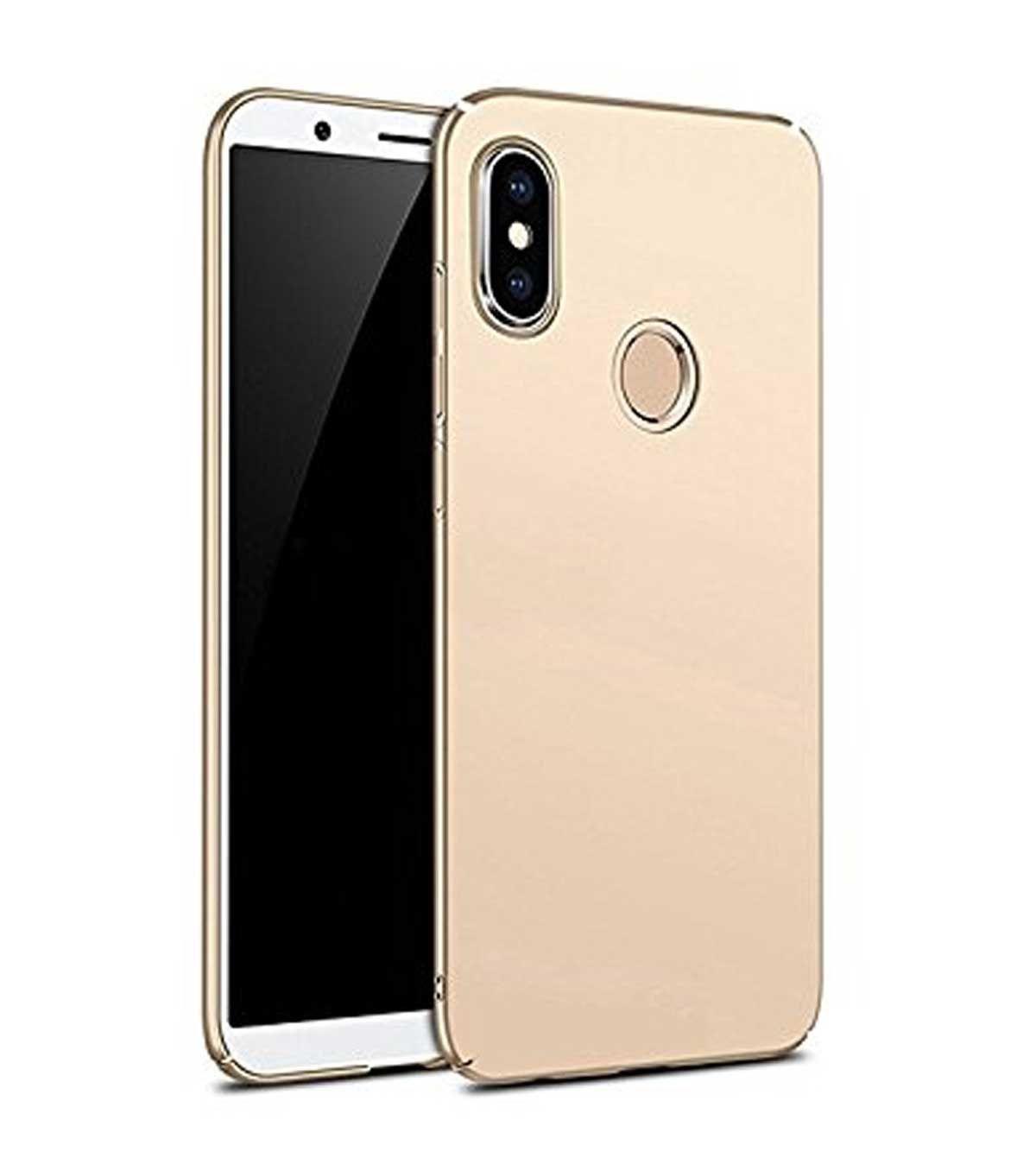 new photos 0af6a 92fe7 Xiaomi Redmi Note 5 Pro Plain Cases TBZ - Golden