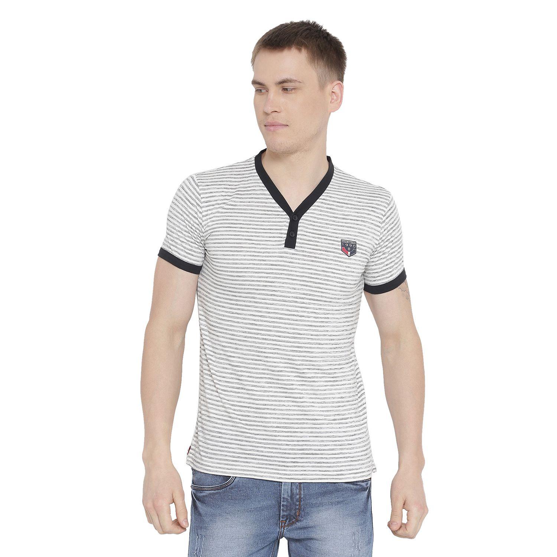Duke White Henley T-Shirt