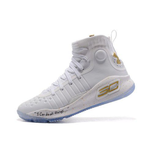 43e1f1322fd Under Armour STEPHEN CURRY 4 GOLD White Basketball Shoes - Buy Under ...
