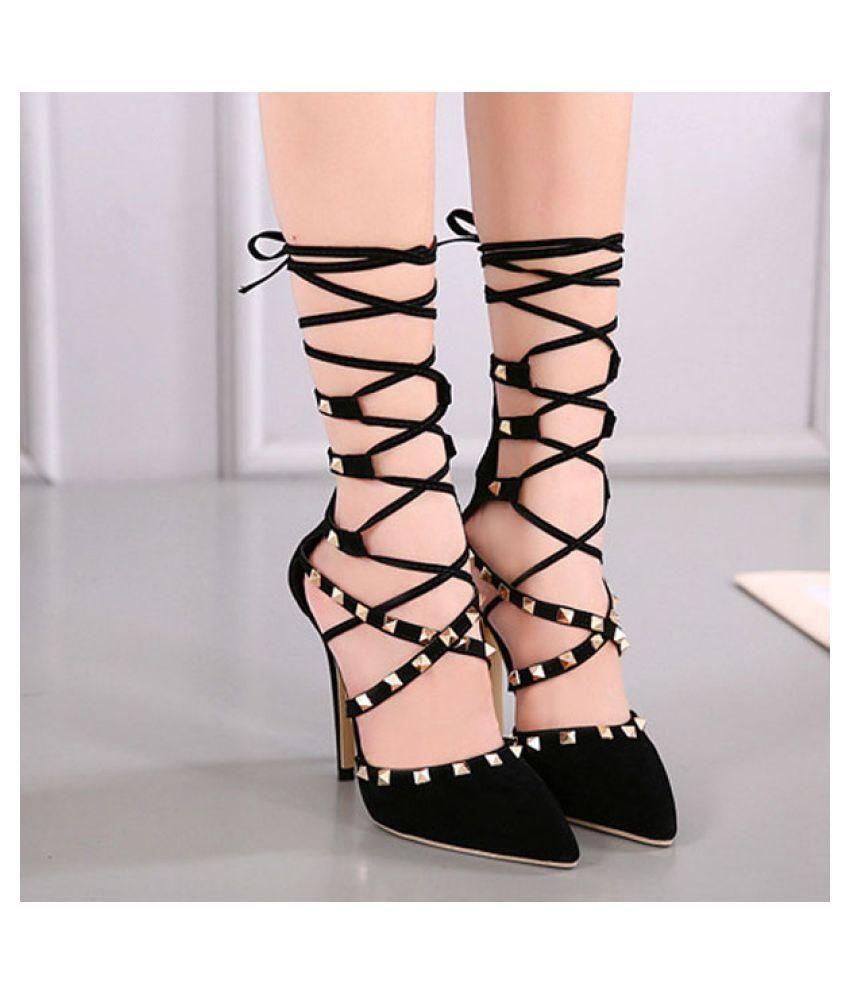jivanis Black Stiletto Heels