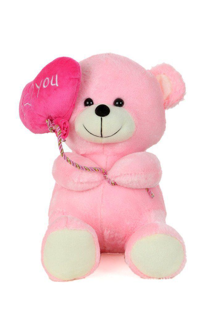 d927d9cd102a AVS Soft Stuff Cute Teddy Bear With I Love You Heart Ballon Blue Soft Toy  27cm (Pink Color) - Buy AVS Soft Stuff Cute Teddy Bear With I Love You Heart  ...