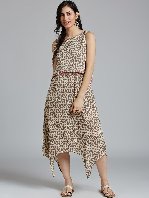 Jaipur Kurti Cotton Yellow Dresses