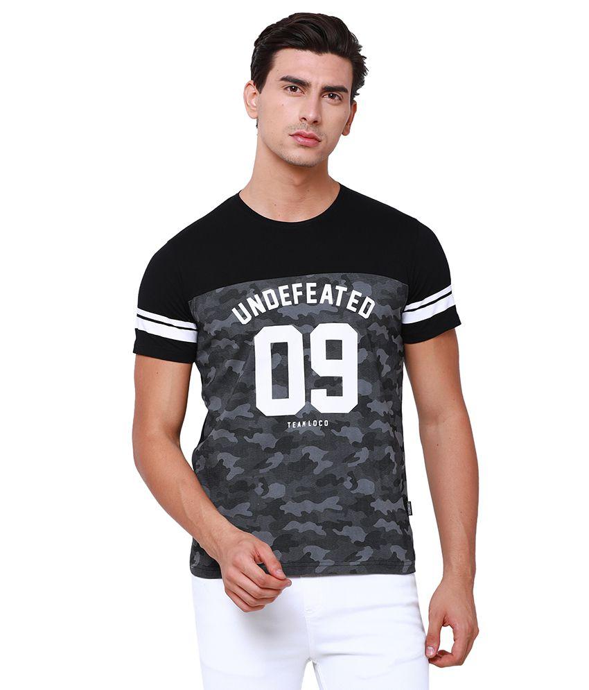 Locomotive Black Round T-Shirt Pack of 1