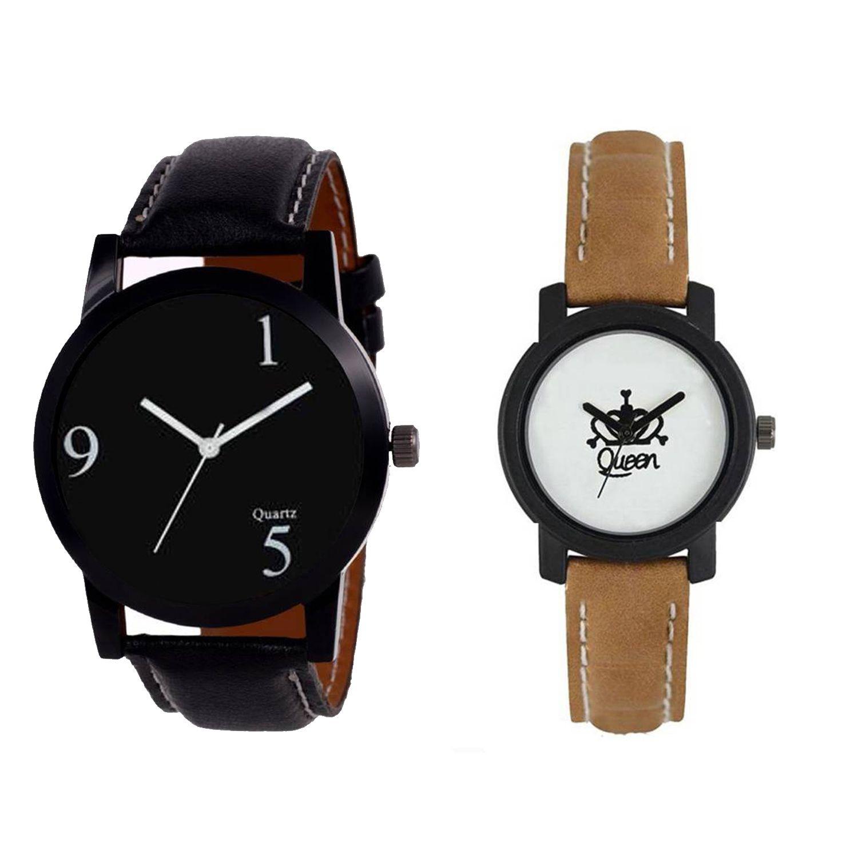 SPLAZOS NH19272927BM62 New Stylish Leather Strap Watch-For Boys