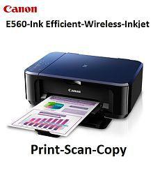 Canon Pixma E560 Ink advantage Inkjet Multifunction (Print, Scan And Copy) Wireless Printer