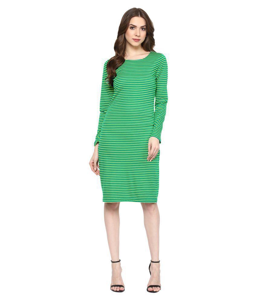 Taaruush Cotton Green Dresses