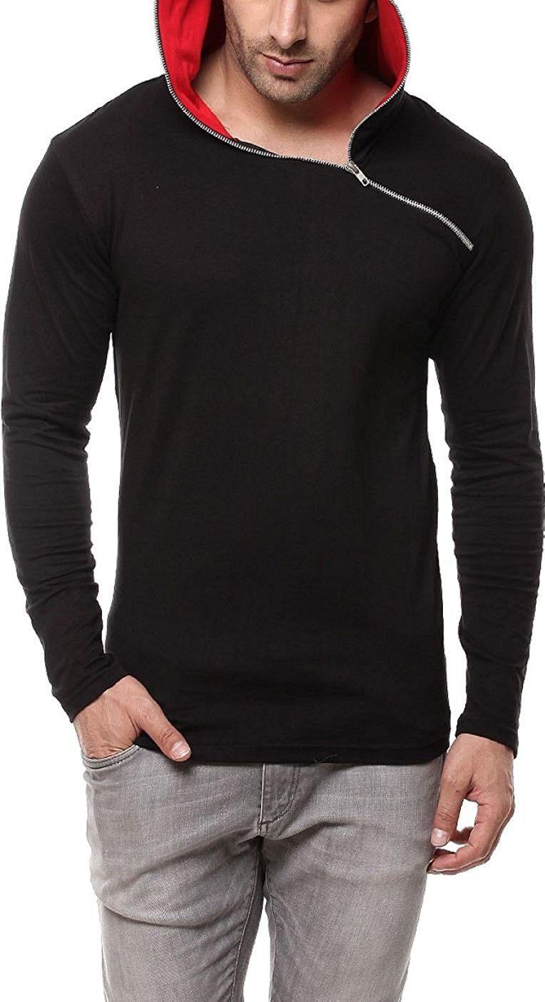 Cenizas Black Hooded T-Shirt