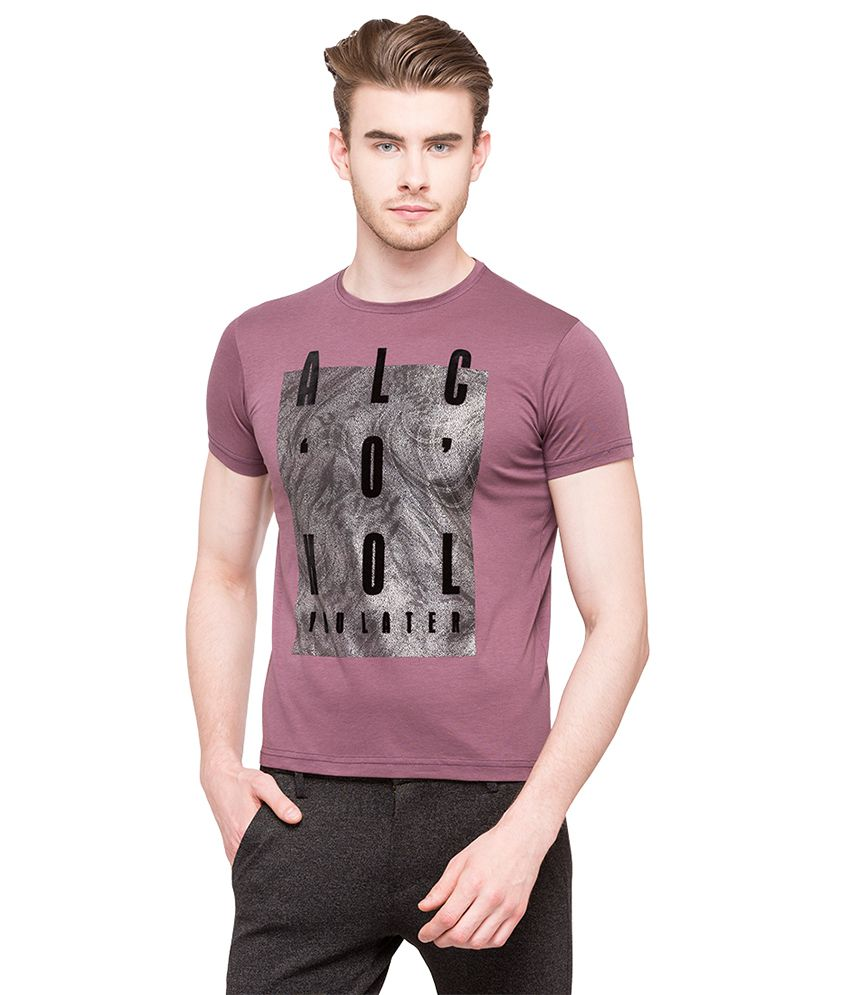 Status Quo Purple Round T-Shirt