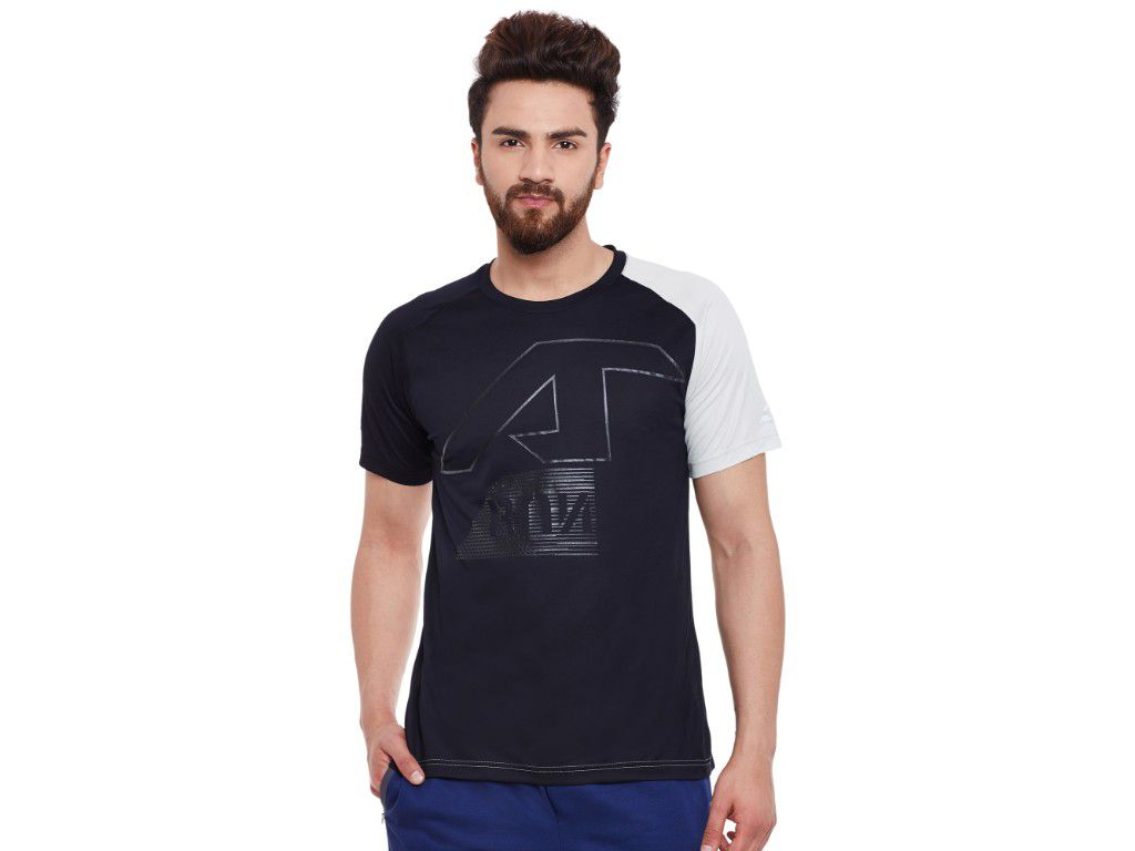 Alcis Mens Black Printed Tshirt