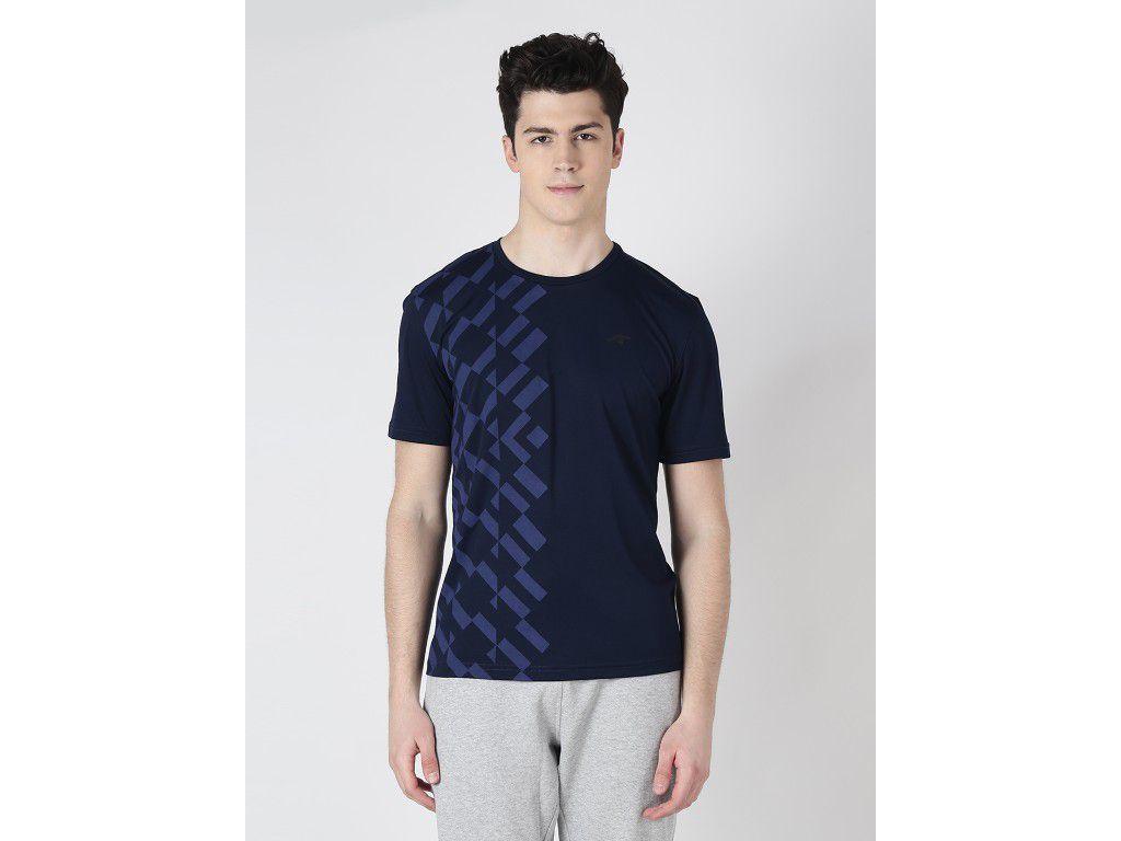 Alcis Mens Navy Blue Printed Tshirt