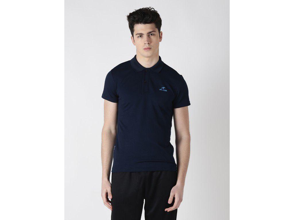 Alcis Mens Navy Blue Printed Polo Tshirt