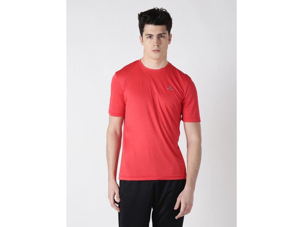Alcis Mens Red Solid Tshirt