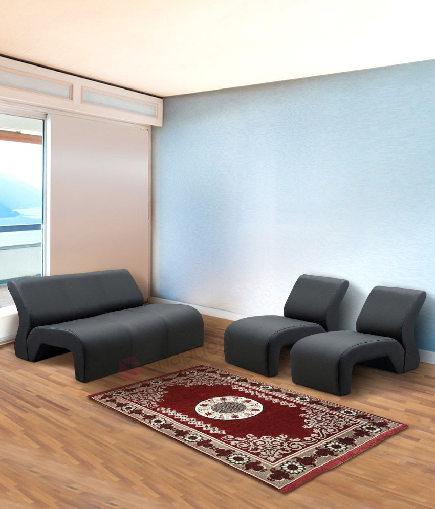 5 Seater Sofa Set 3 1 1 In Black Buy 5 Seater Sofa Set 3 1 1