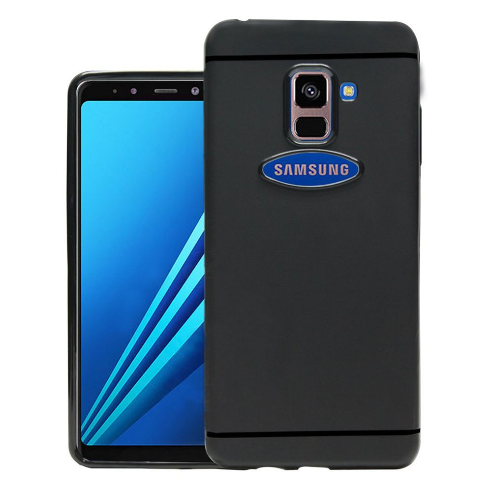 Samsung Galaxy A8 Plus Plain Cases AMZER - Black