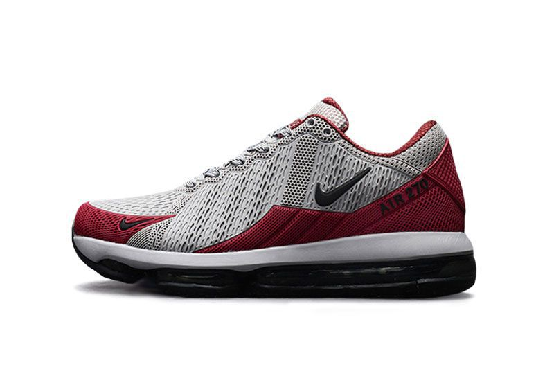 low priced ad859 1de09 Nike Air Max 270 Latest 2019 Red & Gray Running Shoes