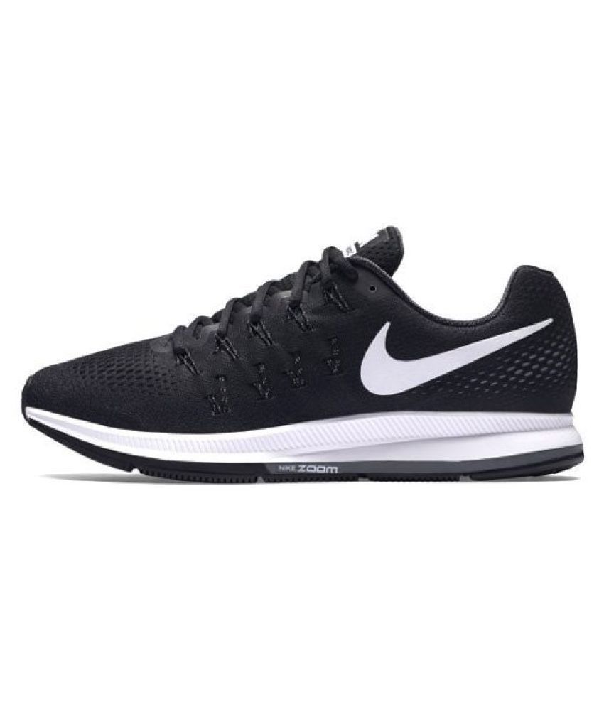 save off 4e317 771b1 Nike Zoom Pegasus 33 Black Running Shoes - Buy Nike Zoom Pegasus 33 Black  Running Shoes Online at Best Prices in India on Snapdeal