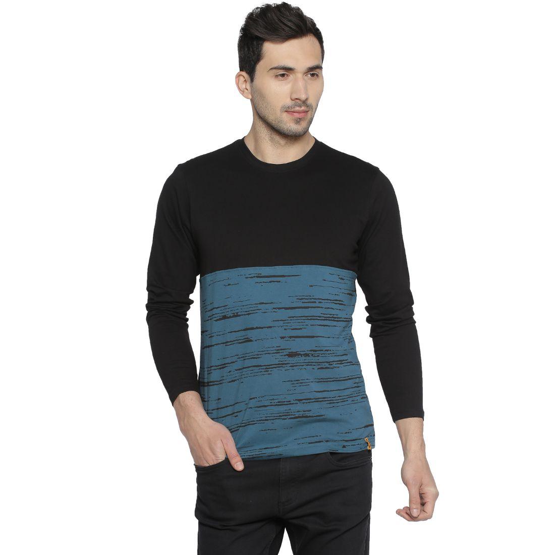 CampusSutra Black Round T-Shirt