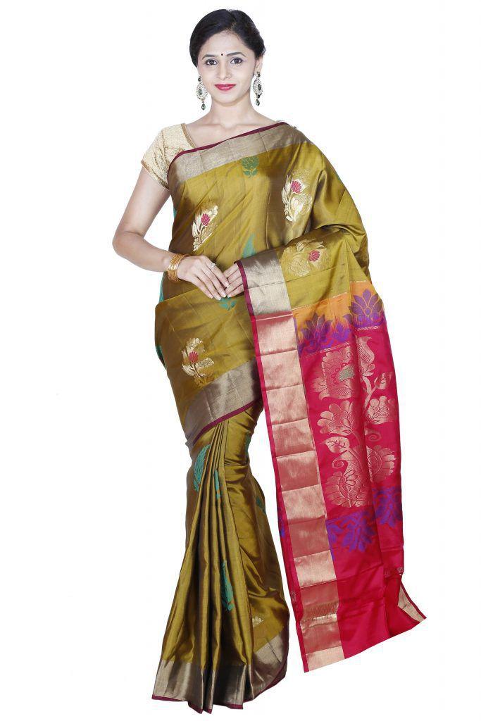 Siva Sarees Gold Uppada Silk Saree