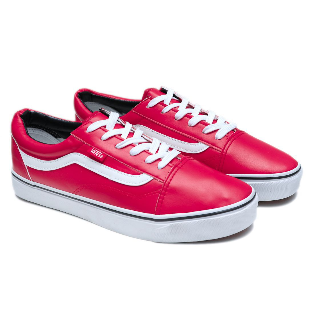 b76d346f400e05 VANS OLD SKOOL FASHION LEATHER Sneakers Red Casual Shoes - Buy VANS OLD  SKOOL FASHION LEATHER Sneakers Red Casual Shoes Online at Best Prices in  India on ...