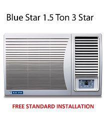 Blue Star 1.5 Ton 3 Star 3W18GA / 3W18LC Window Air Conditioner(2016-17 BEE Rating) Free Standard Installation