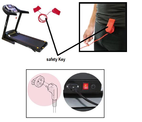 Energie fitness motorized treadmill gym equipment eht