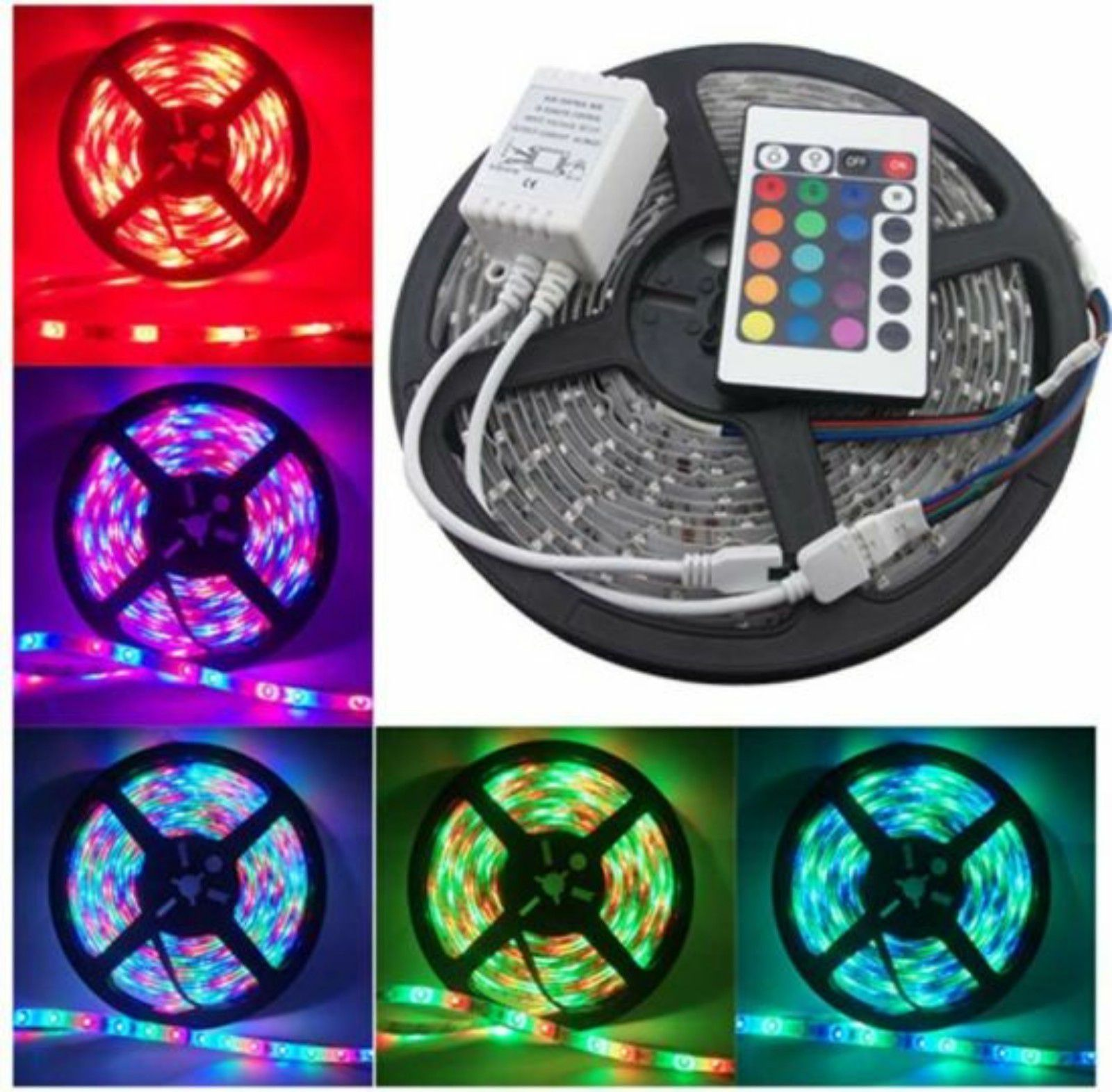 Mg Gold Fully Remote Control Multi Led Strip Light 5 Meter