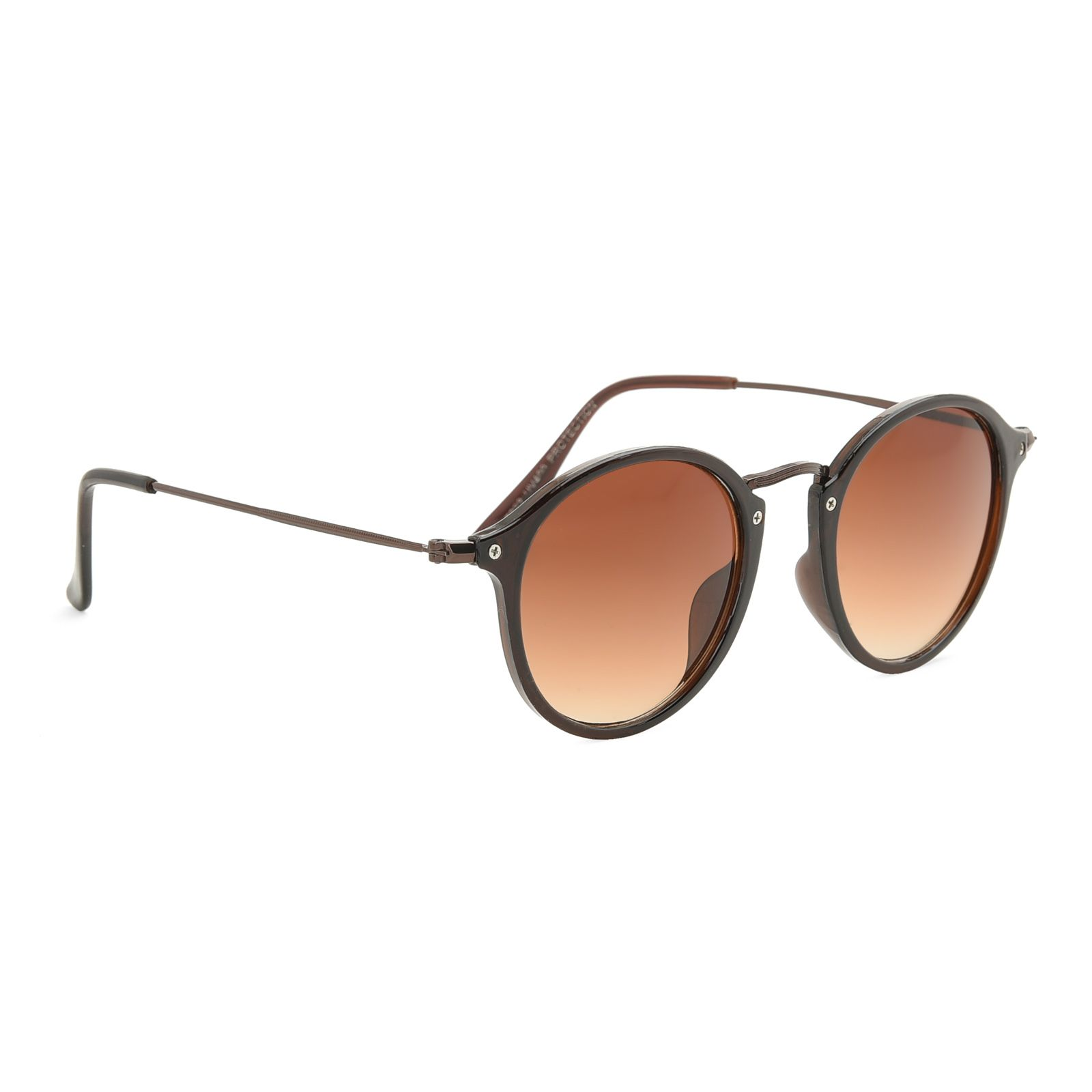 Royal Son Brown Round Sunglasses ( WHAT5065 )