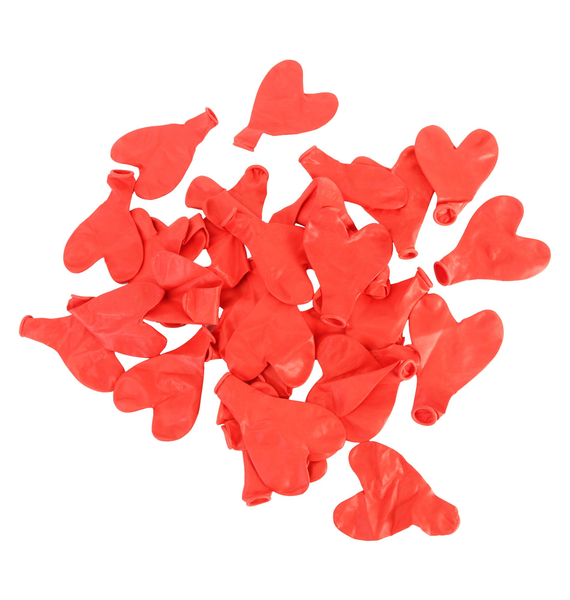 GB Balloons Plain Red Hearts Party Balloons 35pc