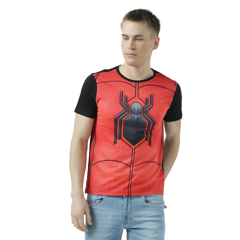Marvel Spider-Man Black Round T-Shirt Pack of 1