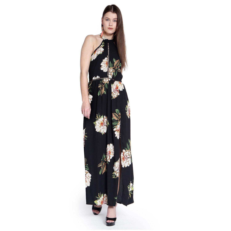 Trendy Divva Poly Georgette Black Dresses