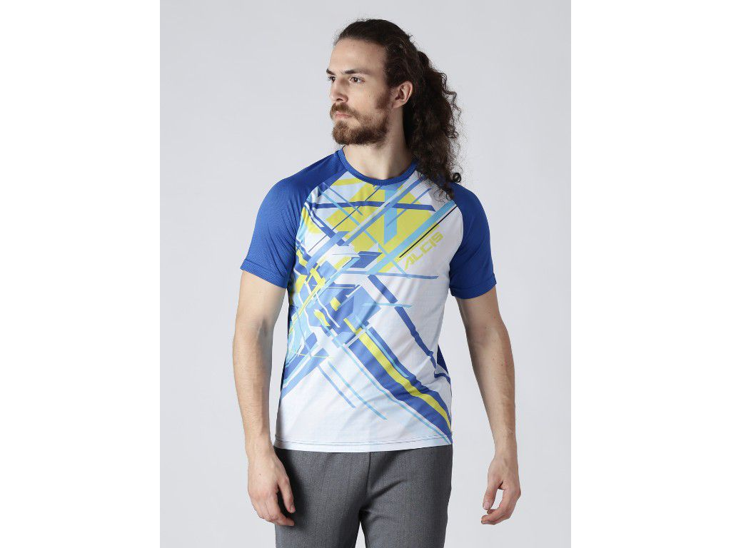 Alcis Mens Printed Blue T-Shirt