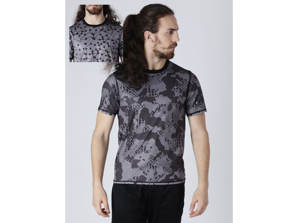 Alcis Mens Printed Reversible T-Shirt