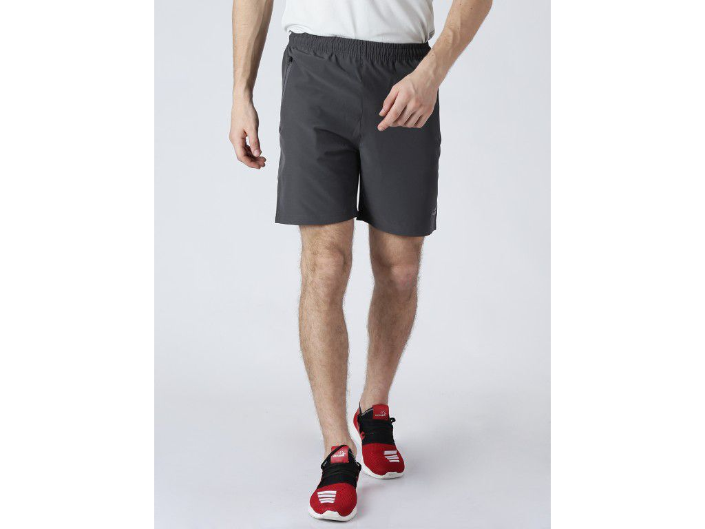 Alcis Mens Solid Grey Shorts