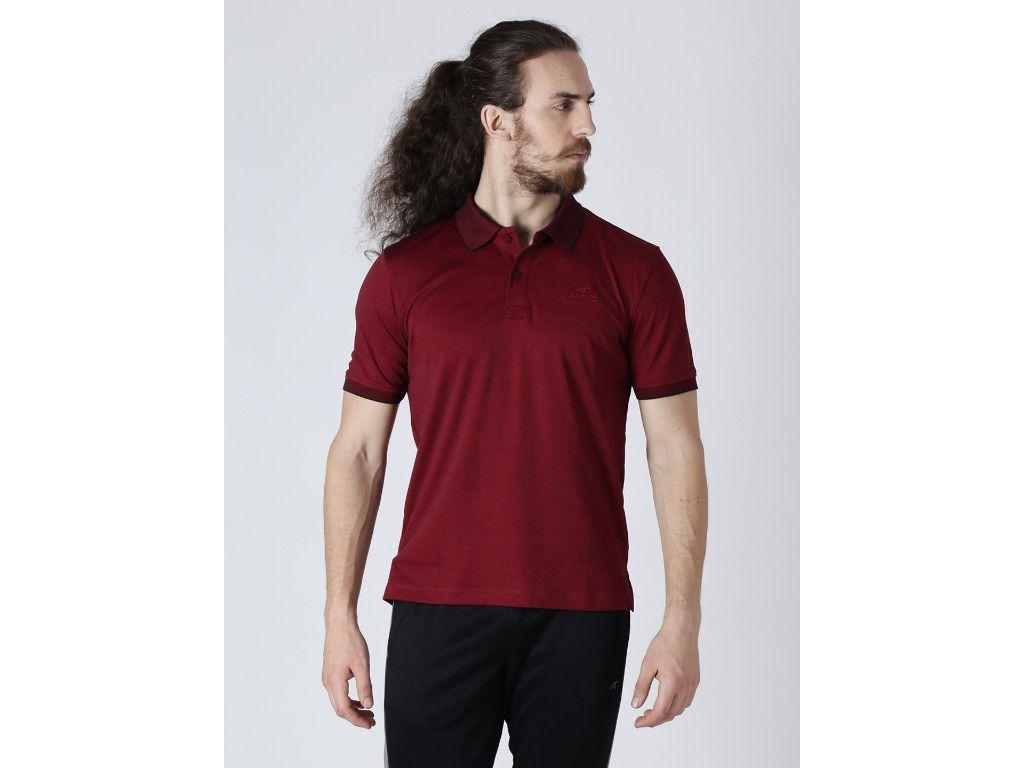 Alcis Mens Solid Maroon Polo T-Shirt
