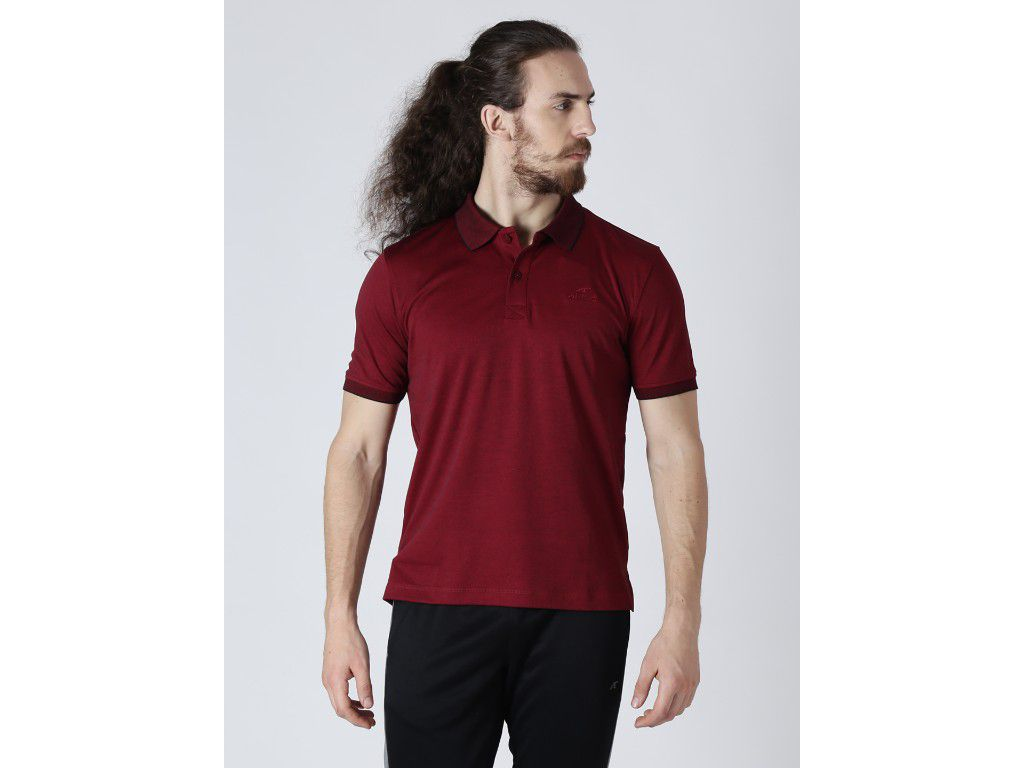 Alcis Mens Solid Maroon Polo T-Shirt