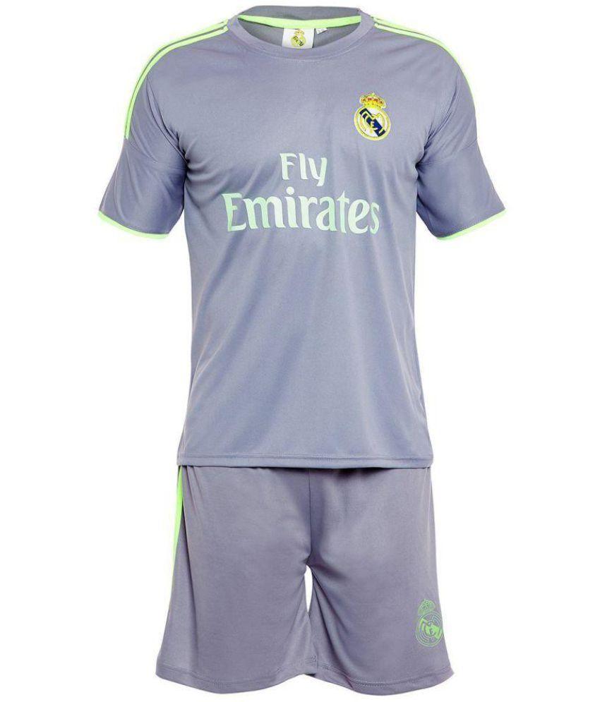 3bd9bf07 Sportigo Replica REAL MADRID - RONALDO 7 Football Jersey Set - Grey/Green  (XL, Shirt Size: 42) - Buy Sportigo Replica REAL MADRID - RONALDO 7 Football  ...