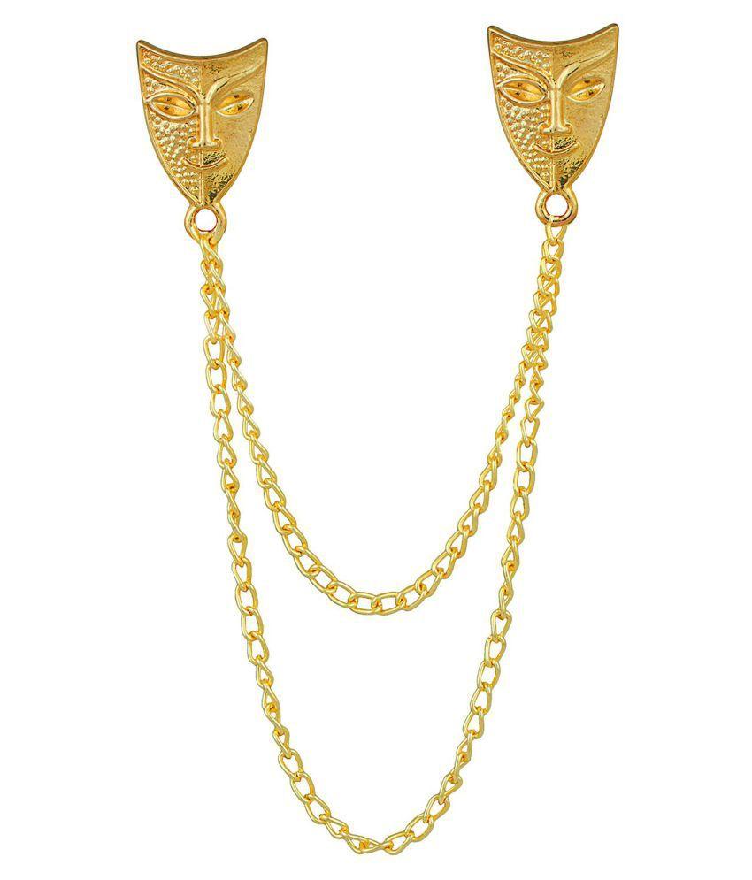 Shining Jewel Stylish And Fancy Sherwani Blazer Brooch For Men (SJ_9026)