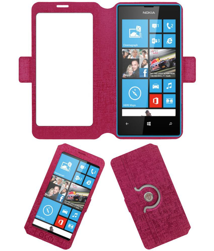 Nokia Lumia 520 Flip Cover by ACM - Pink