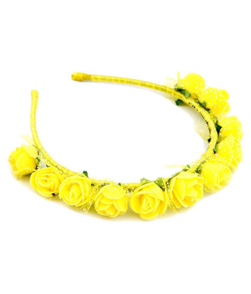Sanjog yellow flower crown tiara hair band hairband for girlskids sanjog yellow flower crown tiara hair band hairband for girlskids mightylinksfo