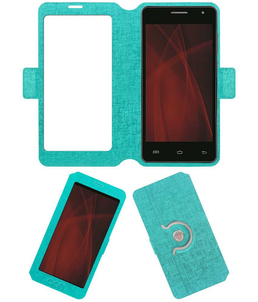 Iball Andi 5f Infinito Flip Cover by ACM - Blue