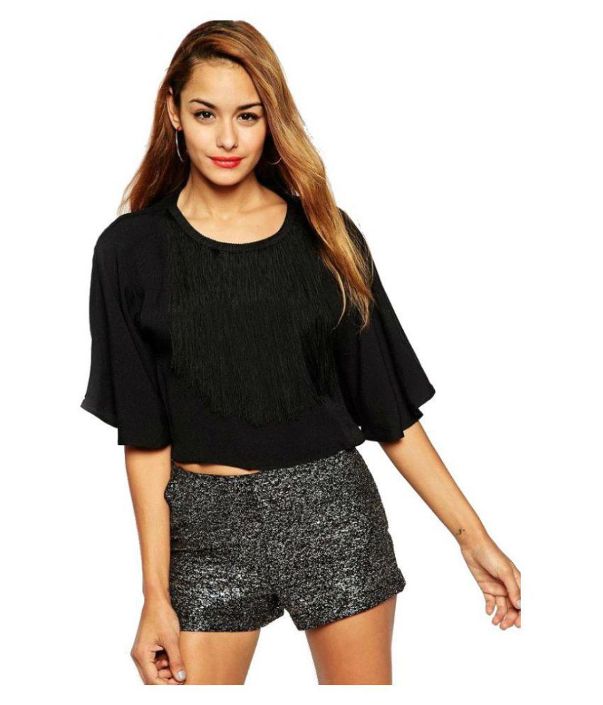 82edaf471a9 Kardashian Polyester Crop Tops - Black - Buy Kardashian Polyester Crop Tops  - Black Online at Best Prices in India on Snapdeal