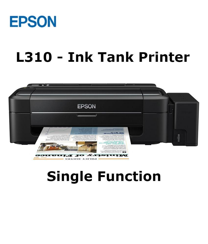 Epson L310 Single Function Colour Ink tank Printer
