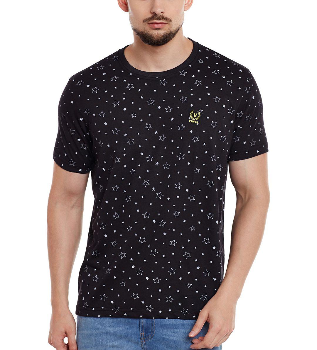 Vimal Black Round T-Shirt