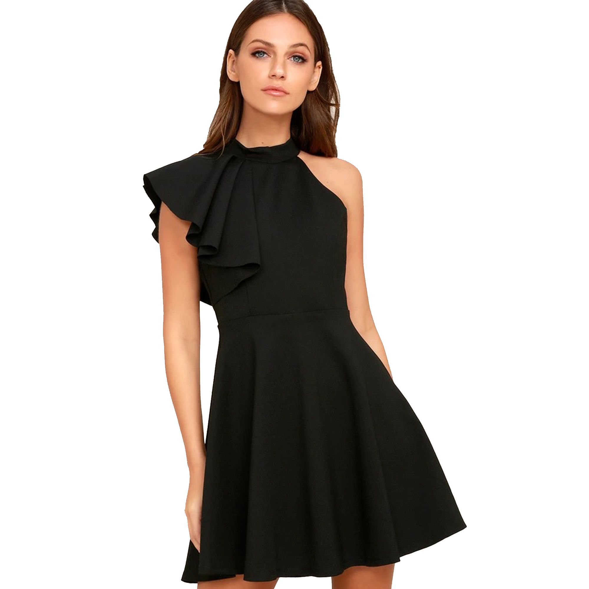 476040d9d Addyvero Cotton Lycra Black Dresses - Buy Addyvero Cotton Lycra Black  Dresses Online at Best Prices in India on Snapdeal
